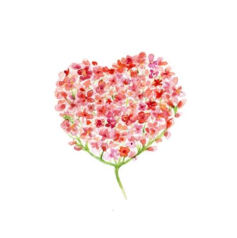 zen-watercolor-flower-heart